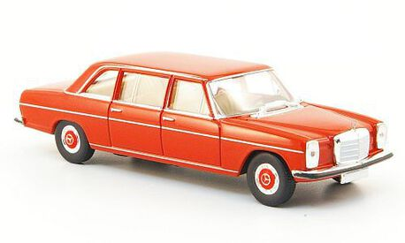 Mercedes Benz 220D (V115), koralowy (BREKINA 13402) (1)