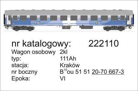 Wagon 2 klasy 111Ah TLK PKP InterCity Robo 222110 (1)