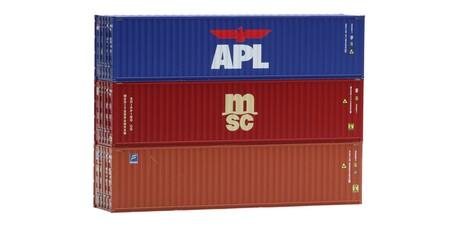Zestaw 3 kontenerów 40' msc APL IGRA 98010014 (1)