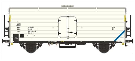 Wagon chłodnia Ibhs-x PKP epoka IVc (1)