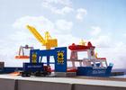 Statek towarowy i dźwig portowy Marklin my world 72223 (1)