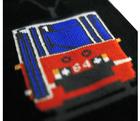 Skarpety tramwaj 105Na czerwony (czarne) (2)