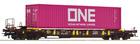Wagon platforma T3 Sdgmns 33 z kontenerem ONE Roco 76234 (1)