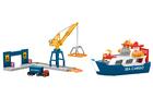 Statek towarowy i dźwig portowy Marklin my world 72223 (2)